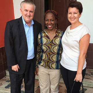 George & Oksana Hagerty in Nigeria