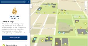 Campus Map Screen Shot