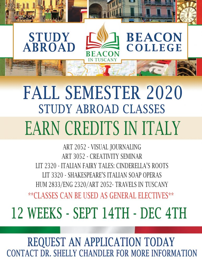 Tuscany Fall 2020 Flyer