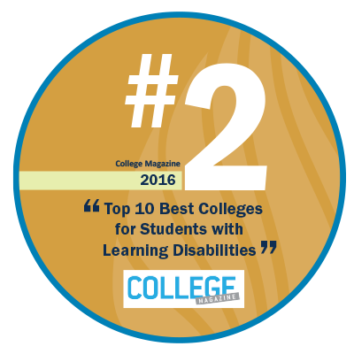 Number 1 Best Value College for Students with Learning Disabilities - College Magazine 2016