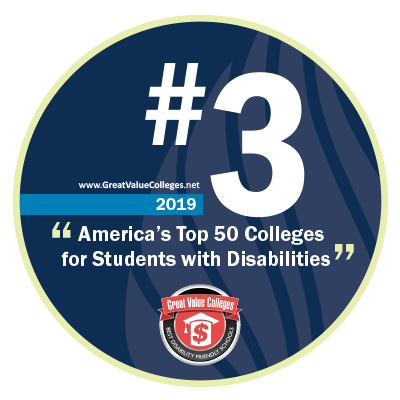 Number 3 Best College for Students with Disabilities - Great Value Colleges 2019