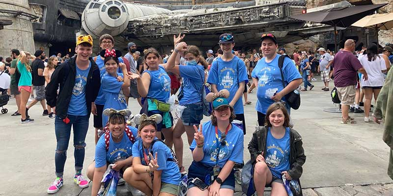 Group of students at Hollywood Studios